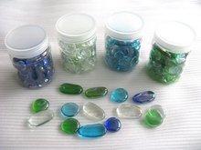 decorative glass shapes, glass nuggets,glass pebble mosaic