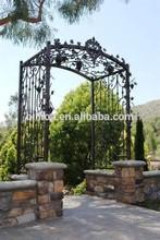 galvanized decoration wrought iron pergola for outdoor