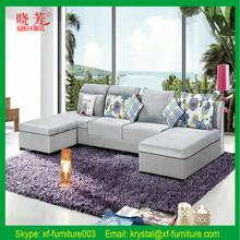 White Color Modern New Design Fabric,Cloth Corner Sofa