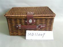 Wholesale 2014 New Design cheap Willow Picnic Basket, insulated picnic hamper