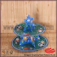 Custom paper mini rotating cardboard cake stand
