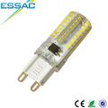 fuente de luz led de silicona y el cuerpo de la lámpara material 3w g9 bombilla led de luz