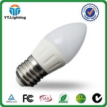 Double Heat Dissipation led room candle lighting bulb 3W e27 E14 lighting led