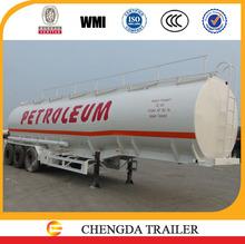 3 axles 42cbm fuel tanker fuel tank for truck
