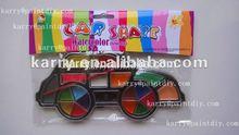 Car-shaped water color set for children