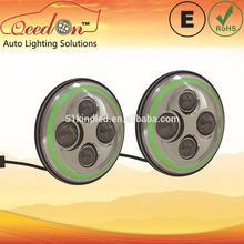Qeedon 7inch LED Round E-mark DOT Head lights ultra bright s25 ba15s bau15s 25w car bulbs for Harley Davidson