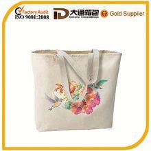Silk printing canvas supermarket shopping bag