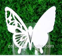 Hot beautiful Laser cut Butterfly design on wine glass
