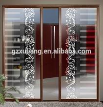 fashion design french aluminum glass doors decoration