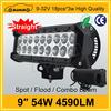 24V,DC Voltage and CE Certification 9'' 54W sxs led light bars for atv