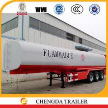 3 axles 42000 Litre diesel fuel tank cap fuel tanker semi-trailer