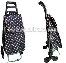 RH-FT04 Stair Climbing Fabric Folding Shopping Cart Trolley
