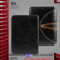 Design leather stand case for ipad mini cover