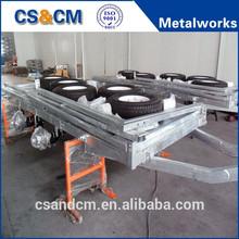 OEM heavy duty galvanized steel trailer frame