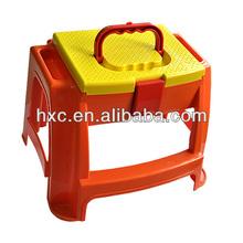 Portable small plastic storage stool golden supplier