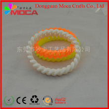 wristband / bangle Promotional gift Any size PVC bracelet silicon wristband