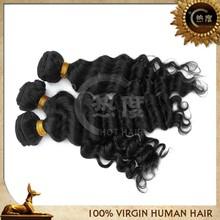wholesale 100% unprocessed virgin brazilian easy clip deep wave hair extensions
