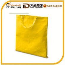 Cheap yellow canvas zipper tote bag