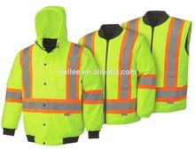 ANSI Class 3 hi-vis winter safety reflective jacket parka