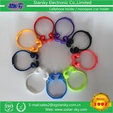2015 New arrival lovely flexible glue finger holder colorful finger tablet pc/phone holder