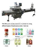 liquid soap bottle filling line