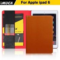 IMUCA Retro Genuine leather case for ipad air 2 case, for ipad 6 case, tablet cover flip leather case for ipad 6