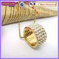 18 K oro anillo colgante hombre collar de imitación de la joyería en dubai # 14174