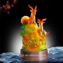 "Liuli/Color glazed unique trophy ""Lunar New Year Eve Special"""