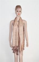 Women's Long Floral Cotton Polyester Thick Tassel Fashion Scarf Shawl Pashmina