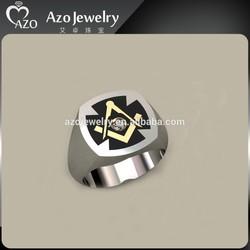 2015 Top Quality Stainless Steel Masonic Custom Ring