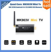 Quad Core 4K Android 4.4 Smart TV box dongle with Aluminium Case