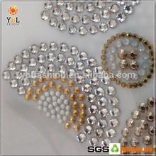 Fashion Design White Opal Rhienstone Silver Rhinestud Trimming