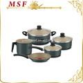 Aquece rapidamente e uniformemente de alumínio panelas 8 pcs conjunto de panelas pote de leite panela saucepot frigideira saudável não revestimento vara MSF-L6391