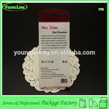 Transparent plastic custom mobile phone case retail packaging