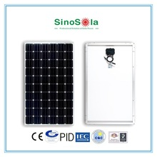 Portable high efficiency Good 220w solar panel price mono solar panel module for solar system with TUV/PID/CEC/CQC/IEC/CE