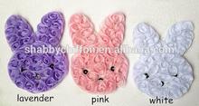 """Artifical Chic Shabby Bunny Rosette Flower,3"""" Cute Rabbit"""