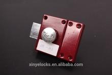 202 Iron Lock Case Plastic Knob Door Rim Lock