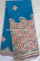Senhoras 2015 azul 100% africano swiss francês george laço manga longa vestidos de renda preta
