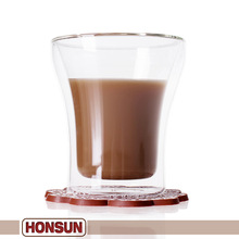 Shaped promotional home cheap glass good double wall glass cup