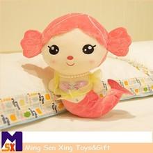 wholesale china cartoon pretty little mermaid girl plush doll