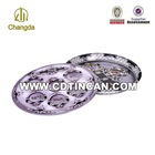 Round high quality new design metal tray
