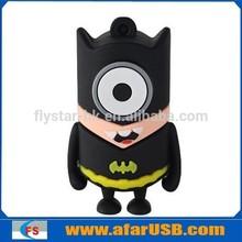 New gadgets PVC batman minions usb 2gb 4gb 8gb 16gb, spiderman despicable me pendrive