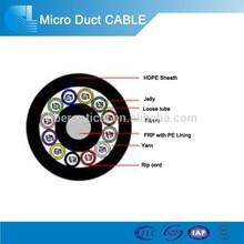 2015 new air blown micro duct fiber optic cable 96,144 288core fiber