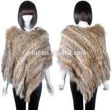 Yr104 nuevo diseño para mujer de las lanas del cabo / rabbit y piel de mapache cabo / venta al por mayor superhéroe capa