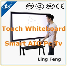 China 55inch Office School supplies Touch Sceen Smart Whiteboard Pc Tv Interactive whiteboard