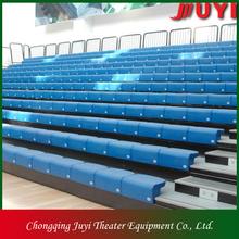 JY-750 factory price basketball bleacher plastic material aluminium bench telescopic bleacher retractable gym seat