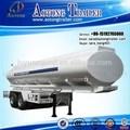 Eje 3 40-50cbm de combustible del tanque acoplado/aceite diesel de camiones de transporte semi remolque cisterna