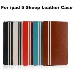 High Quality Ultra Thin Fashion Sheep Pattern Leather Stand Cover Case For Ipad 5