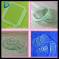 1-6mm templado de vidrio de luz de la lente, la iluminación de cristal, ronda de cristal cubierta de la luz