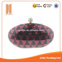 Handmade manufacturing rhinestone lady evening handmade bag crystal